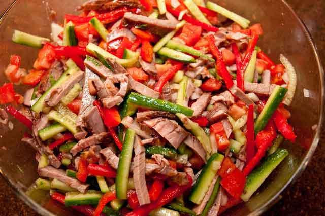 Говядина рецепты салат